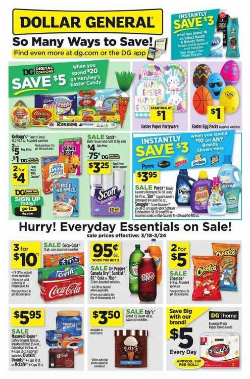 dollar general weekly ad preview 3/19 to 3/24 2018