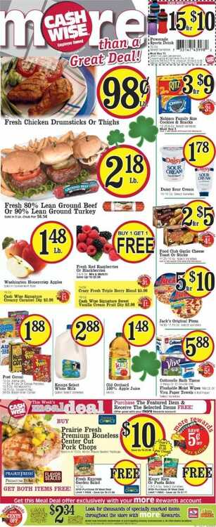 cash wise liquor weekly ad 3/12 to 3/17 2018