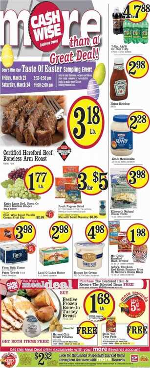 cash wise weekly ad minot nd March 19 to 24 2018