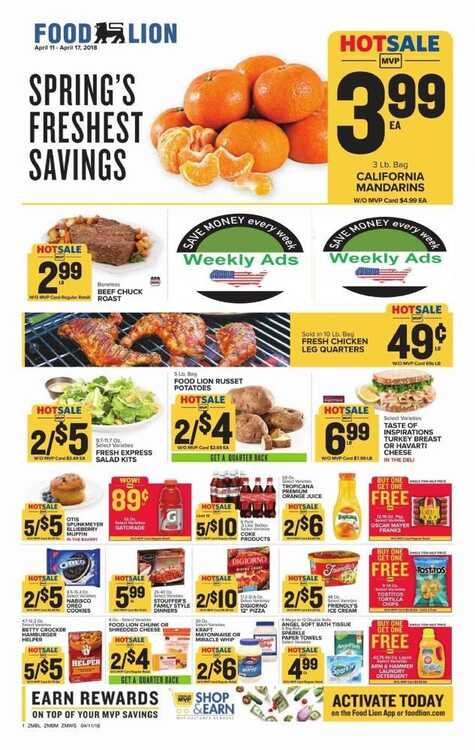food lion coupons 4/12 until 4/17 2018 Spring's Freshest Savings
