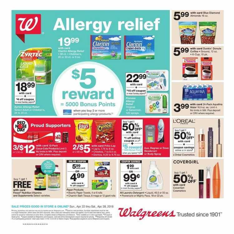 walgreens ad preview 4/22 to 4/28 2018 Big Sale - weekly ads