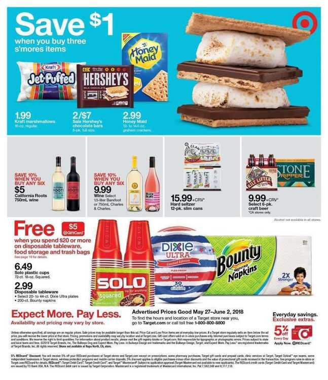 target weekly ad 5 28 to 6 2 2018 Price good Sunday & Monday