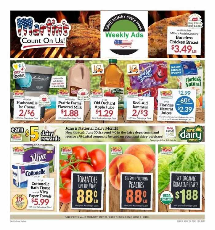 martin's weekly ad hagerstown md valid to June 6/3 2018