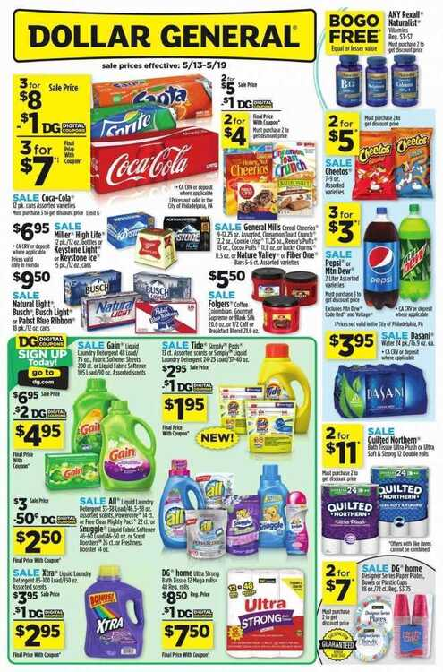 dollar general weekly ad for this week valid to May 19 2018