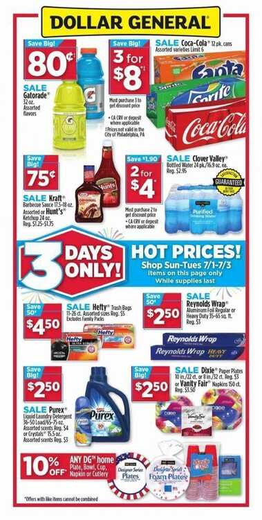 dollar general fourth of july ad