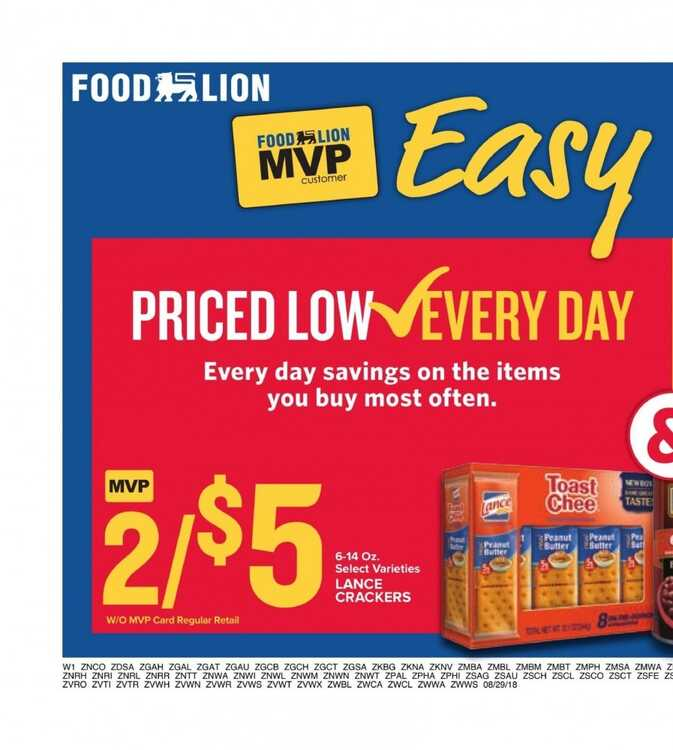 food lion weekly ad 8/31 to 9/4 2018 Happy LABOR Day!