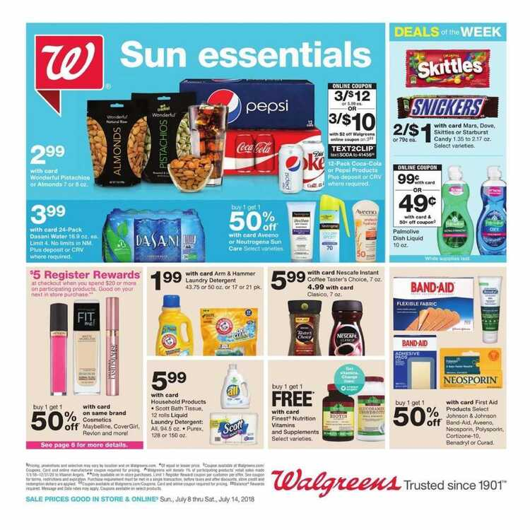 walgreens weekly ad 8/8 to 8/14 2018 Deals of the Week