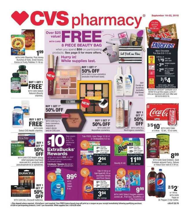 cvs weekly ad this week 9/16 to 9/22 2018 Big Sales