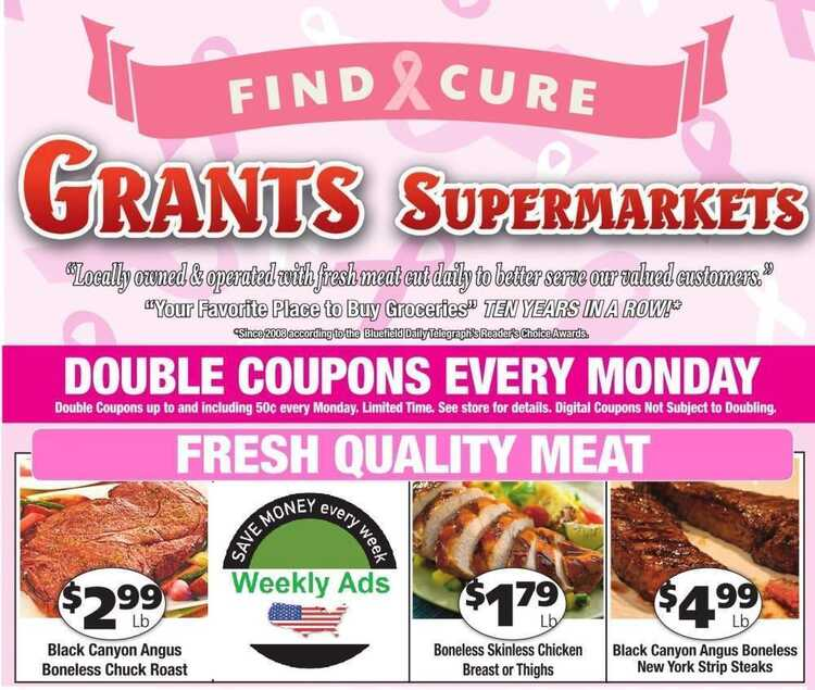 grant weekly ad this week 10/1