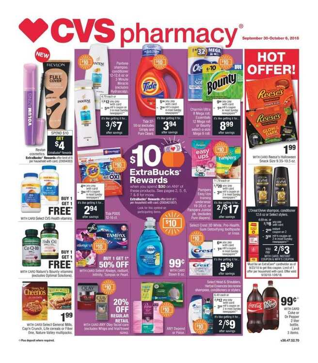 cvs weekly ad 10/1 to 10/6 2018
